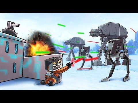Minecraft   STAR WARS BASE CHALLENGE - Imperial Army Attacks! (Star Wars Base)