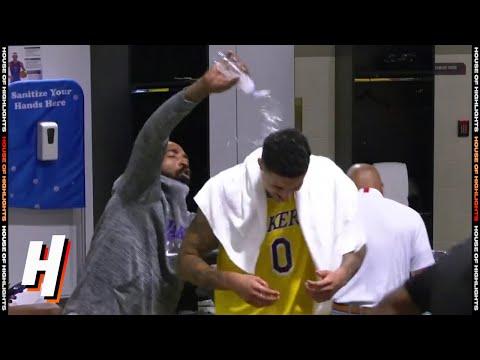 Lakers' Locker Room Celebrates Kyle Kuzma's Game-Winner   August 10, 2020