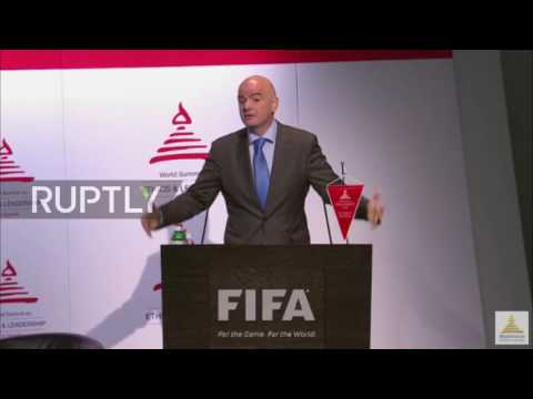 Belgium: FIFA president Infantino and prof. McLaren discuss ethics in sports