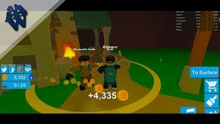 Fishing for money from ores (Roblox: Miner simulator)