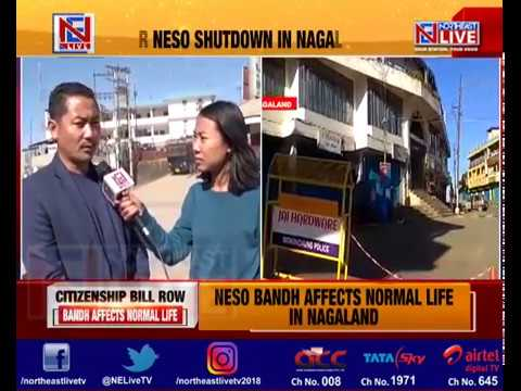 NESO bandh affects normal life in Nagaland