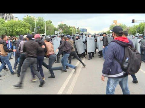 Kazakhstan: des centaines de manifestants arrêtés   AFP Images
