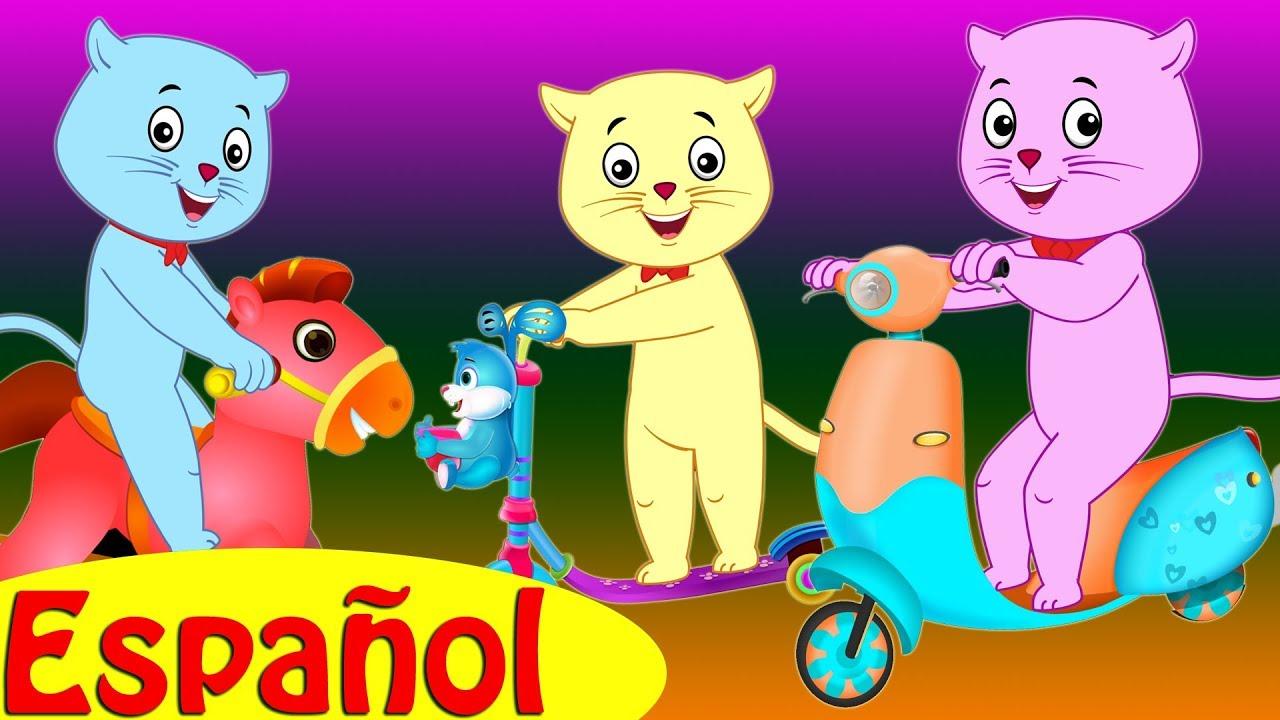 Tres Gatitos Fueron al Parque – Canciones Infantiles por Cutians™ | ChuChu TV Canciones de Niños
