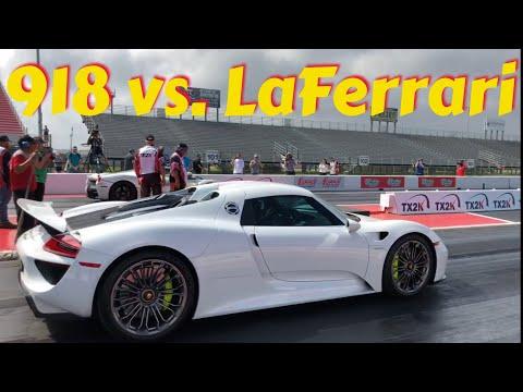 Porsche 918 vs. LaFerrari | father vs. son racing at TX2k