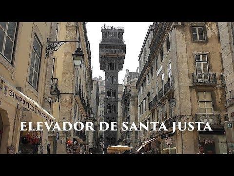 LISBOA: Santa Justa Lift - viewpoint (Portugal) HD