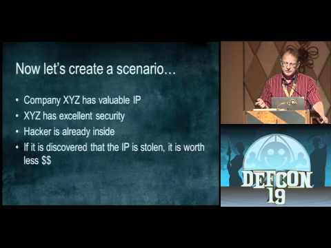 DEFCON 19: How Misdirection Can Be Used To Steal Information Without Being Detected (w speaker)