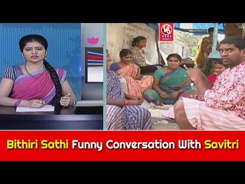 Bithiri Sathi Funny Conversation With Savitri || Weekend Teenmaar Special || V6 News
