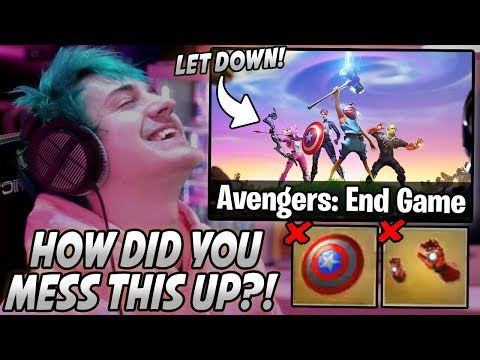 Ninja Explains Why He's DISAPPOINTED And NOT Happy With The Avengers Collab With Fortnite!