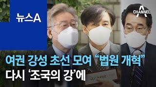 """여권 강성 초선 모여 """"법원 개혁""""…다시 '조국의 강'…"""