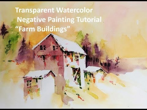 Transparent Watercolor Negative Painting Tutorial,