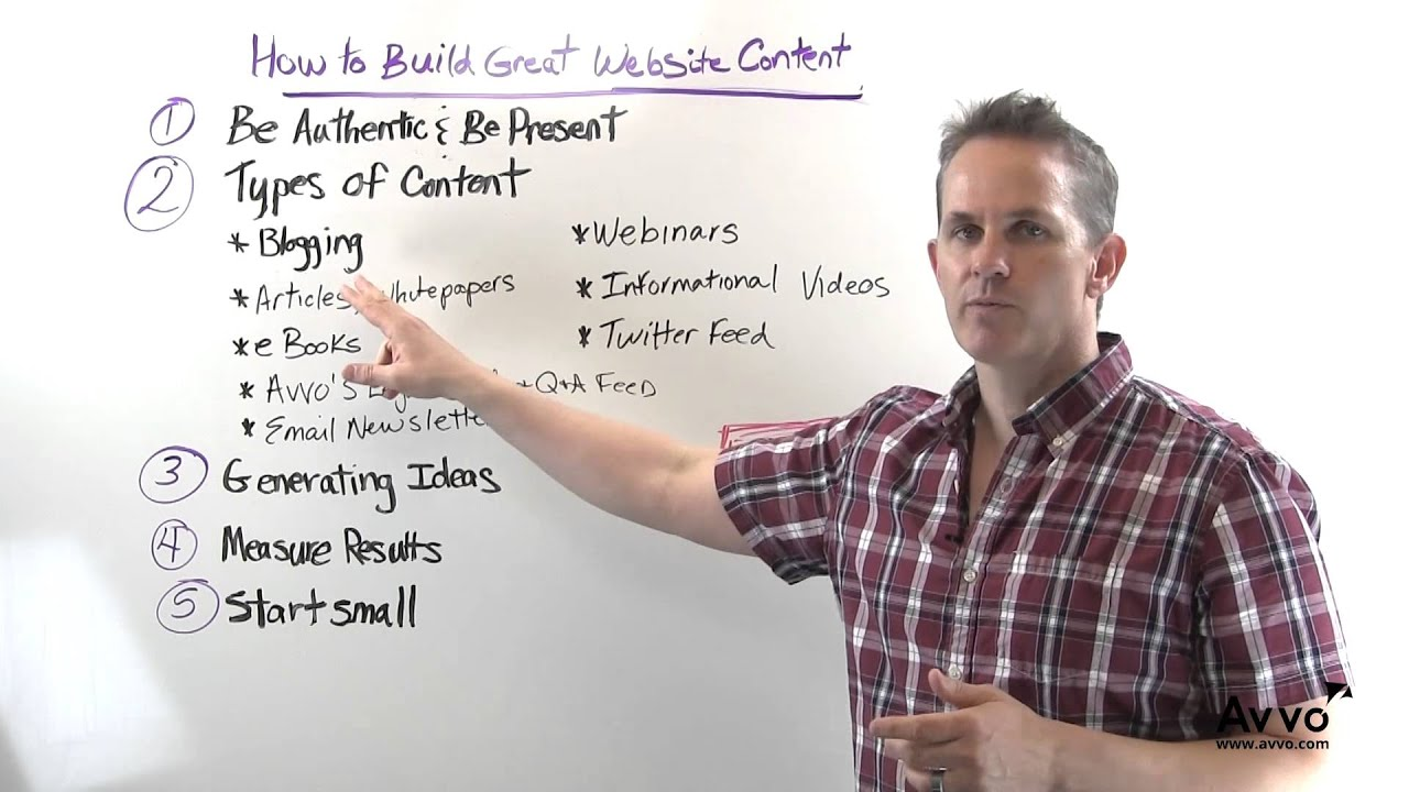 How to Build Great Website Content