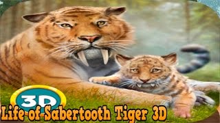 👍🐯Life of🐅 Sabertooth Tiger 3D - by Wild Animals Life Role Playing - iTunes/Android
