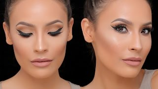 FULL COVERAGE FOUNDATION W/ CONTOUR / HIGHLIGHT + SIMPLE EYE LOOK