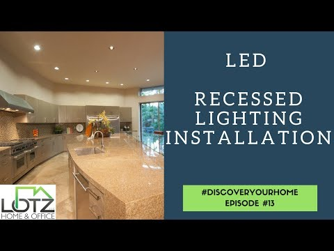 Led Recessed Lighting Installation Of Led Can Lights
