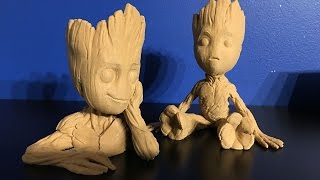 3D Printing Time Lapse - Baby Groot from Guardian of the Galaxy 2