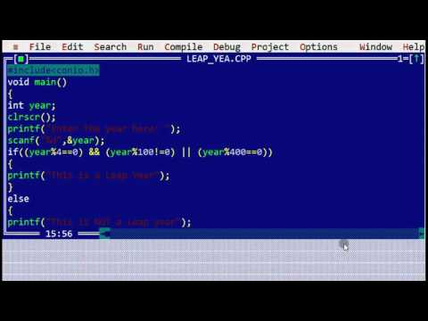 C program to determine whether a year is a Leap Year or not