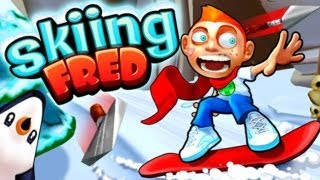 Skiing Fred - iPhone & iPad Gameplay Video