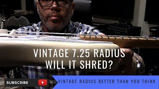Vintage Fender Stratocaster 7 25 Radius Will It Shred Can You Bend Watch And Find Out Youtube