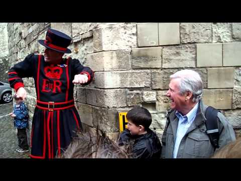 An entertaining Beefeater tour at the Tower of London