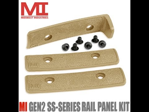 Midwest Industries G2 SS-Series Panel Kit  1 Handstop And 2 Panels