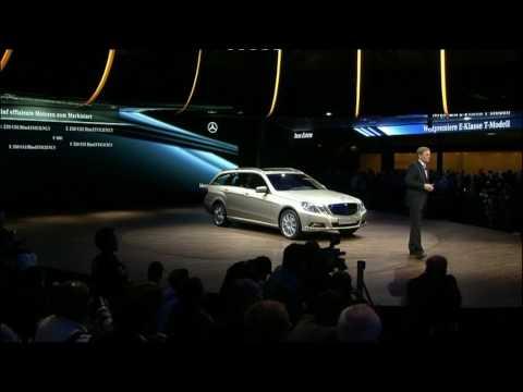 2010 Mercedes E-Class Estate Press Conference at Frankfurt