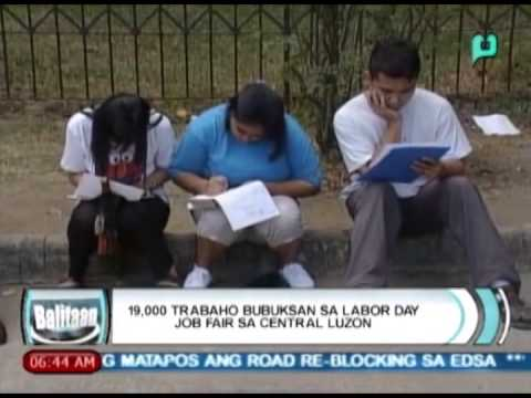 [Balitaan] 19,000 trabaho bubuksan sa labor day job fair sa Central Luzon [04|22|14]