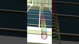 The crazy way a slinky falls in slow motion #shorts