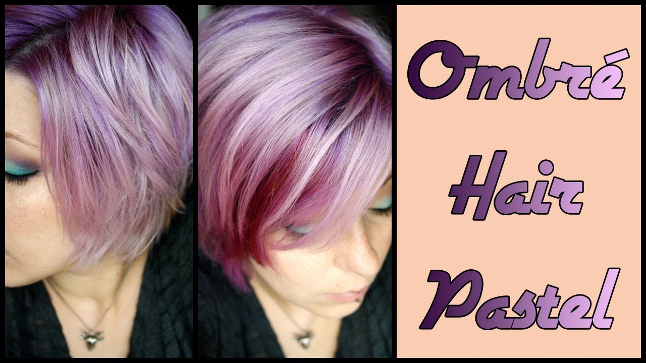 cheveux pastel dgrad ombr hair en lilas - Coloration Violet Pastel