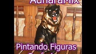 León Grande - Pintando Figuras en Cerámica