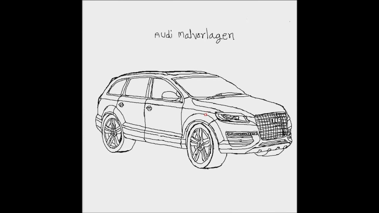 How To Draw A Car #04 (Audi Malvorlagen Car) - YouTube