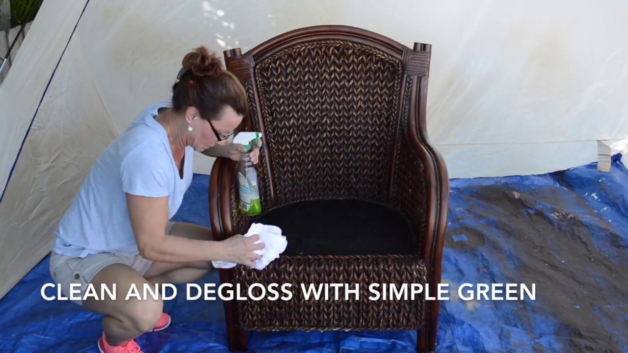 How To Paint Wicker Furniture With A Sprayer