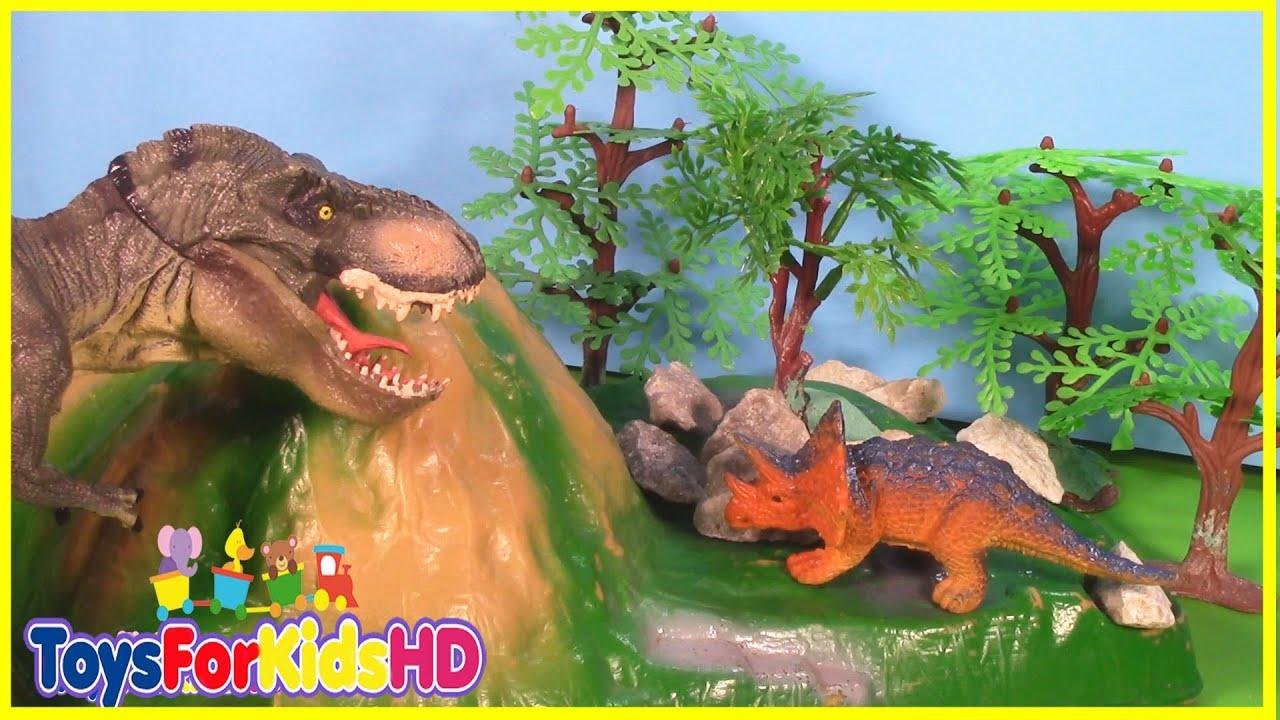 Videos De Dinosaurios Para Niños Las Mejores Luchas De Dinosaurios De Juguete 2 Toysforkidshd Youtube