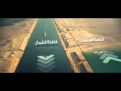 The new Suez canal in Egypt