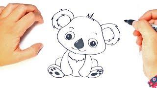How to draw a kawaii Koala | kawaii Koala Easy Draw Tutorial