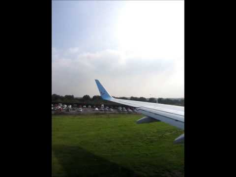 Thomson Boeing 737-800 Taxi and Take off Exeter Airport