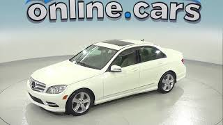 C97228RT Used 2011 Mercedes-Benz C-Class C 350 White Sedan Test Drive, Review, For Sale