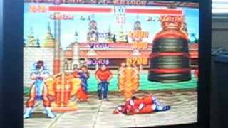 Street Fighter II 2 SNES Chun Li vs. M. Bison (plus ending)