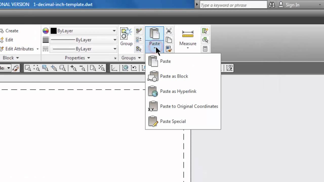 Autocad copy paste a border in a layout tab 31 youtube for Copy cad