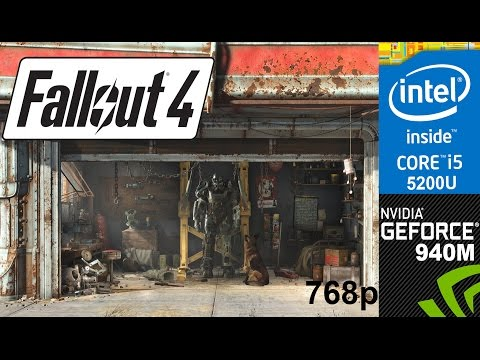Fallout 4 on HP Pavilion 15-ab032TX, High Setting 768p, Core i5 5200u + Nvidia Geforce 940m