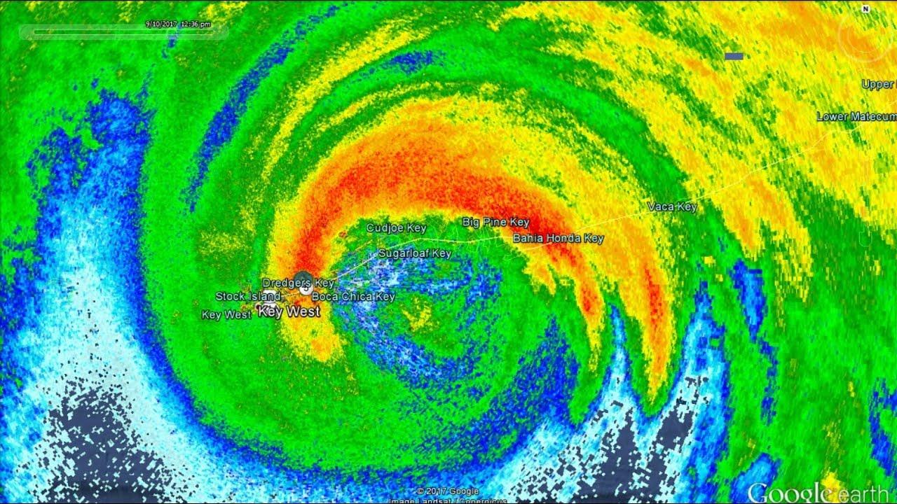Eye Of Hurricane Irma Passing Over Florida Keys HI Res Radar - Hawaii radar doppler