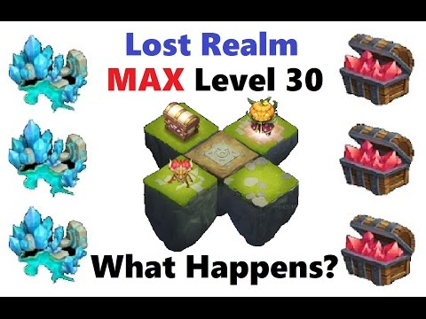 WHAT Happens At Lost Realm MAX LEVEL 30? Castle Clash