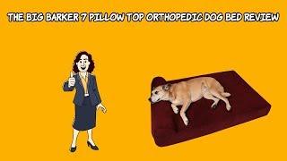 Best Orthopedic Dog Bed Reviews 🐶 The Big Barker 7 Pillow Top Orthopedic Dog Bed Review
