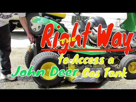 The Right Way To Remove a John Deere Gas Tank