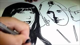 Draw Brenda and Jared leto