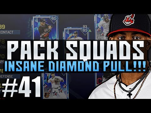 DIAMOND PULL! ITS BEEN A WHILE! PACK SQUAD #41 MLB 17 DIAMOND DYNASTY!