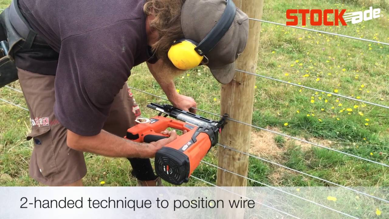 Stockade st400i fencing stapler fixing plain wire in nz youtube stockade st400i fencing stapler fixing plain wire in nz greentooth Image collections