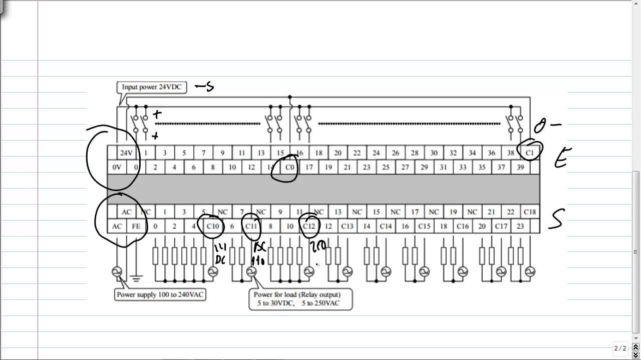 toyota diagrama de cableado de micrologix plc