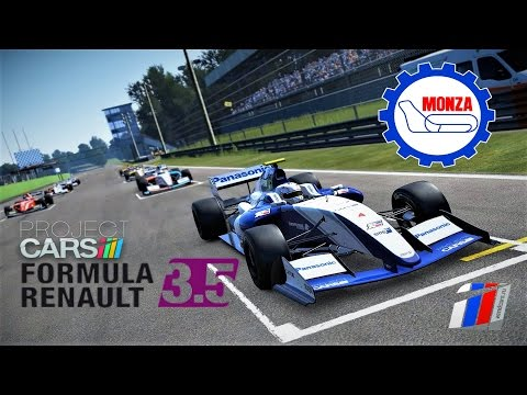 Live Stream Project CARS Formula Renault 3.5 at @Monza onboard