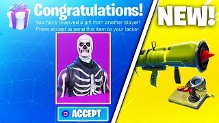 *NEW FORTNITE UPDATE* Gifting System + Guided Missle Gameplay! (Fortnite Battle Royale)
