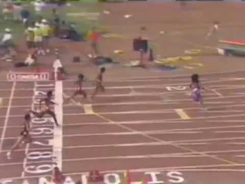 Florence Griffith Joyner 100m World Record 10:49
